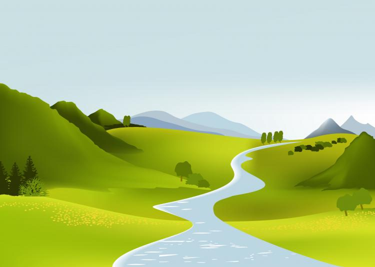 vector cartoon landscape backgroundsfree - photo #8