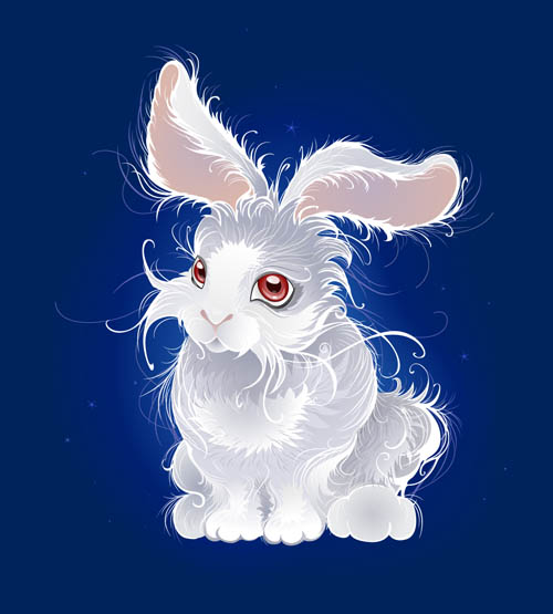 free vector Cute cartoon rabbit image vector