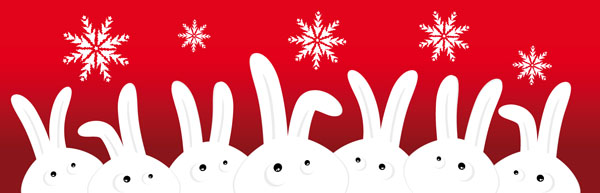 free vector Cute cartoon rabbit vector