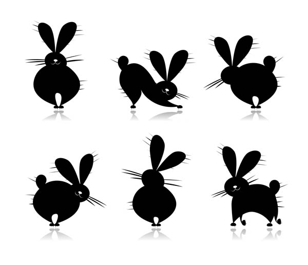 free vector Cute cartoon rabbit vector