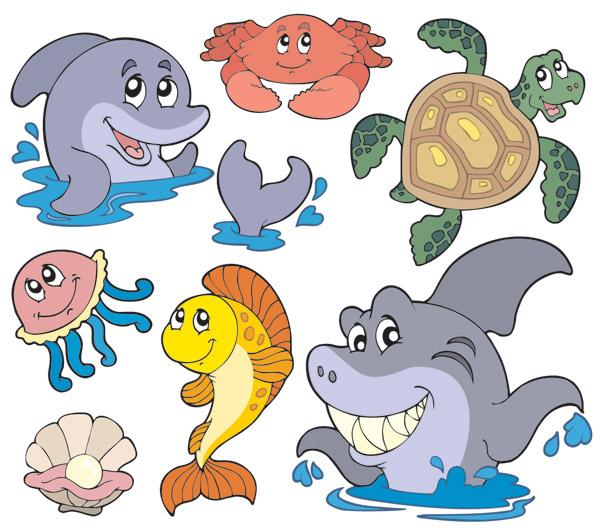 free vector Cute Cartoony Fish Vectors