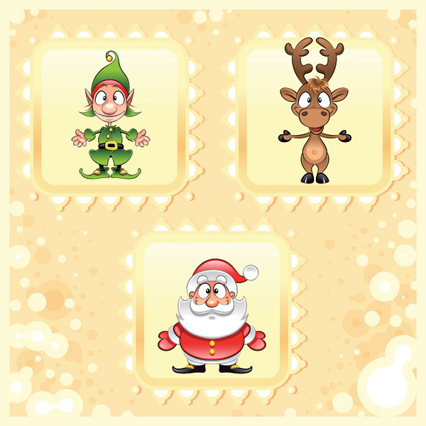 free vector Cute christmas pattern vector