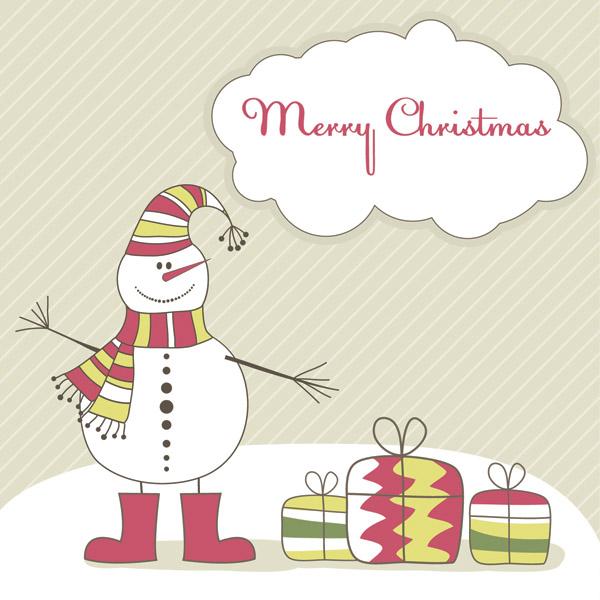 free vector Cute christmas vector illustration