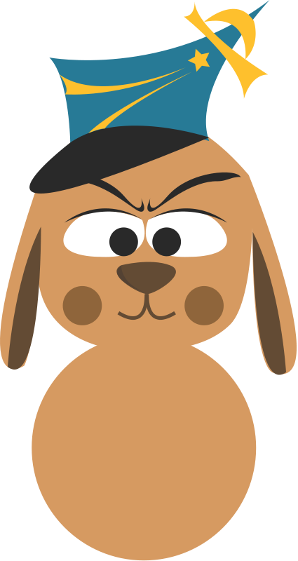 free vector Cute dog avatar