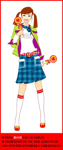 free vector Cute girl series vector girl 8p