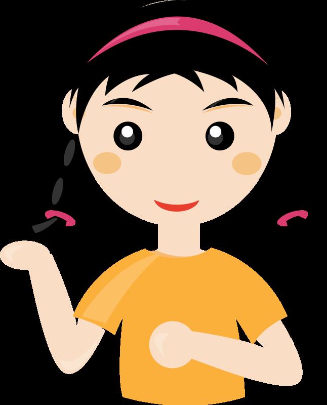 free vector Cute girl2