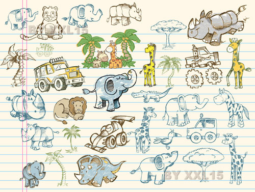 free vector Cute Graffiti Pattern 02 - Vector Cute Vector