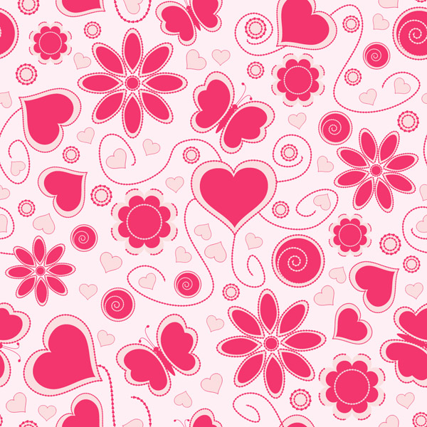 free vector Cute hearts background vector