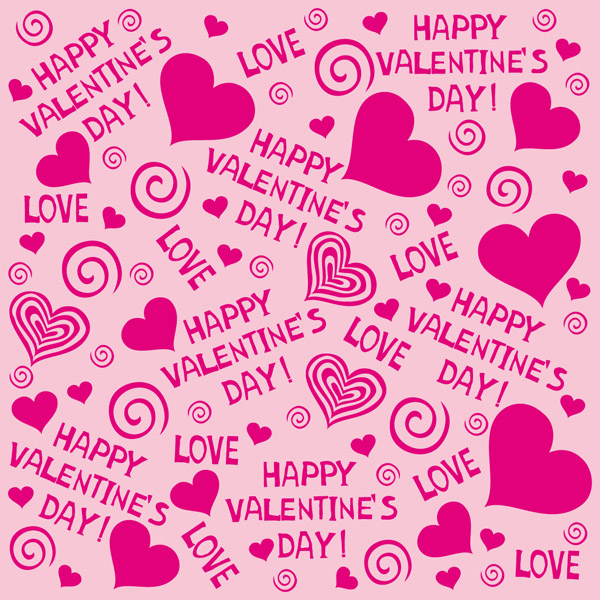Cute hearts background vector free vector 4vector - Cute valentines backgrounds ...