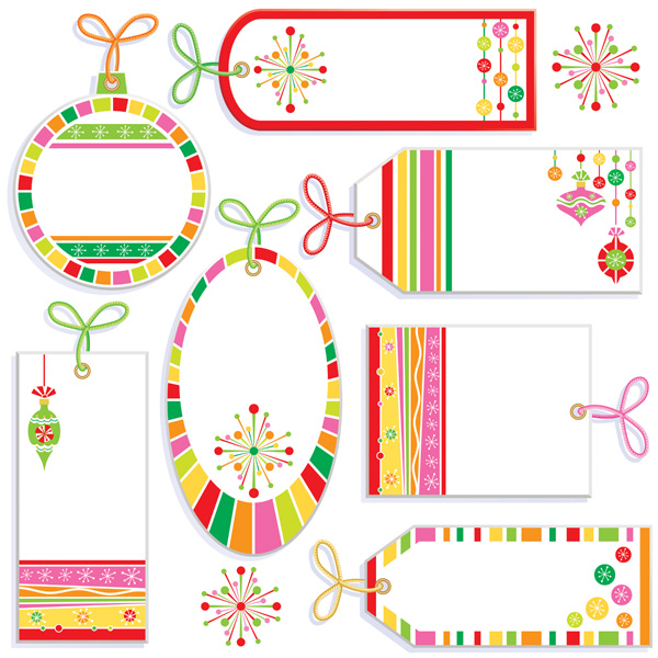 free vector Cute label tag vector