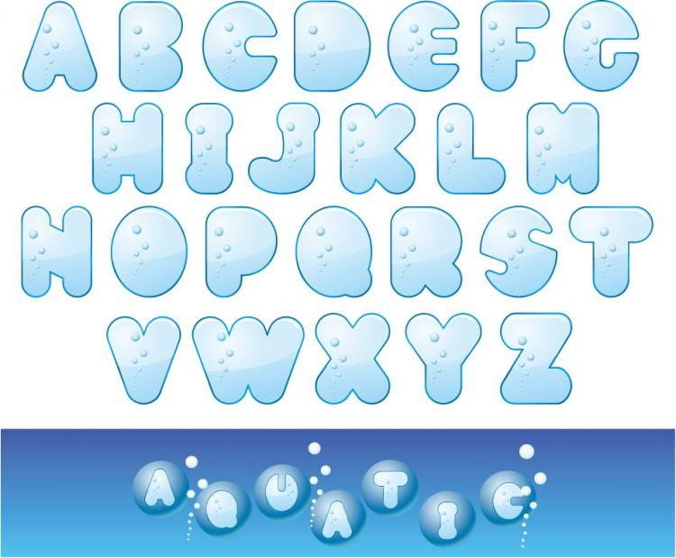 free vector Cute letters of the alphabet vector material