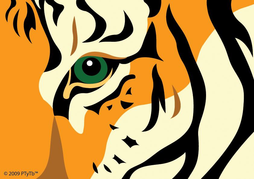 free vector Cute little tiger vector