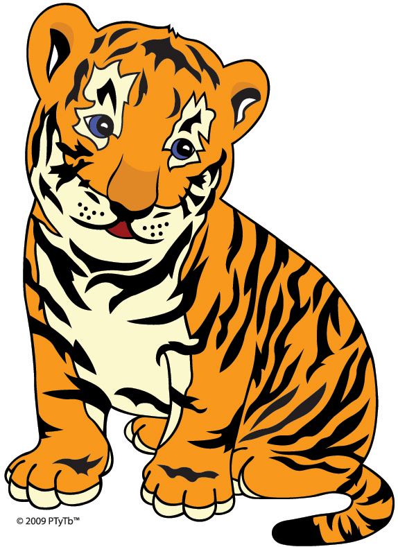 free vector Cute little tiger vector