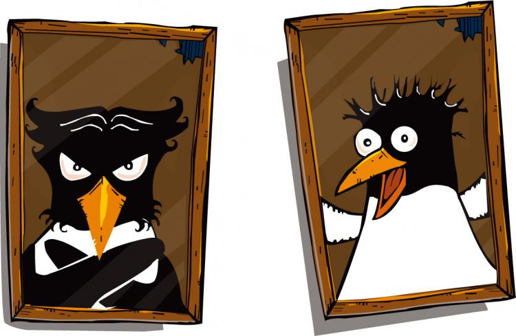 free vector Cute penguin photo vector