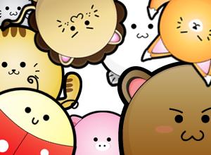 free vector Cute Puffy Animals
