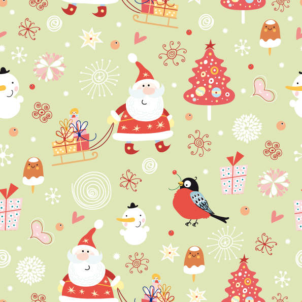 free vector cute santa claus wallpaper vector 005549 santa pattern%20(2)