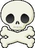 free vector Cute Skull clip art