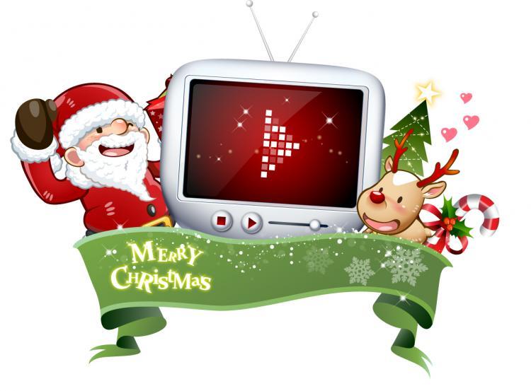 free vector Cute snowman and santa claus 02 christmas vector