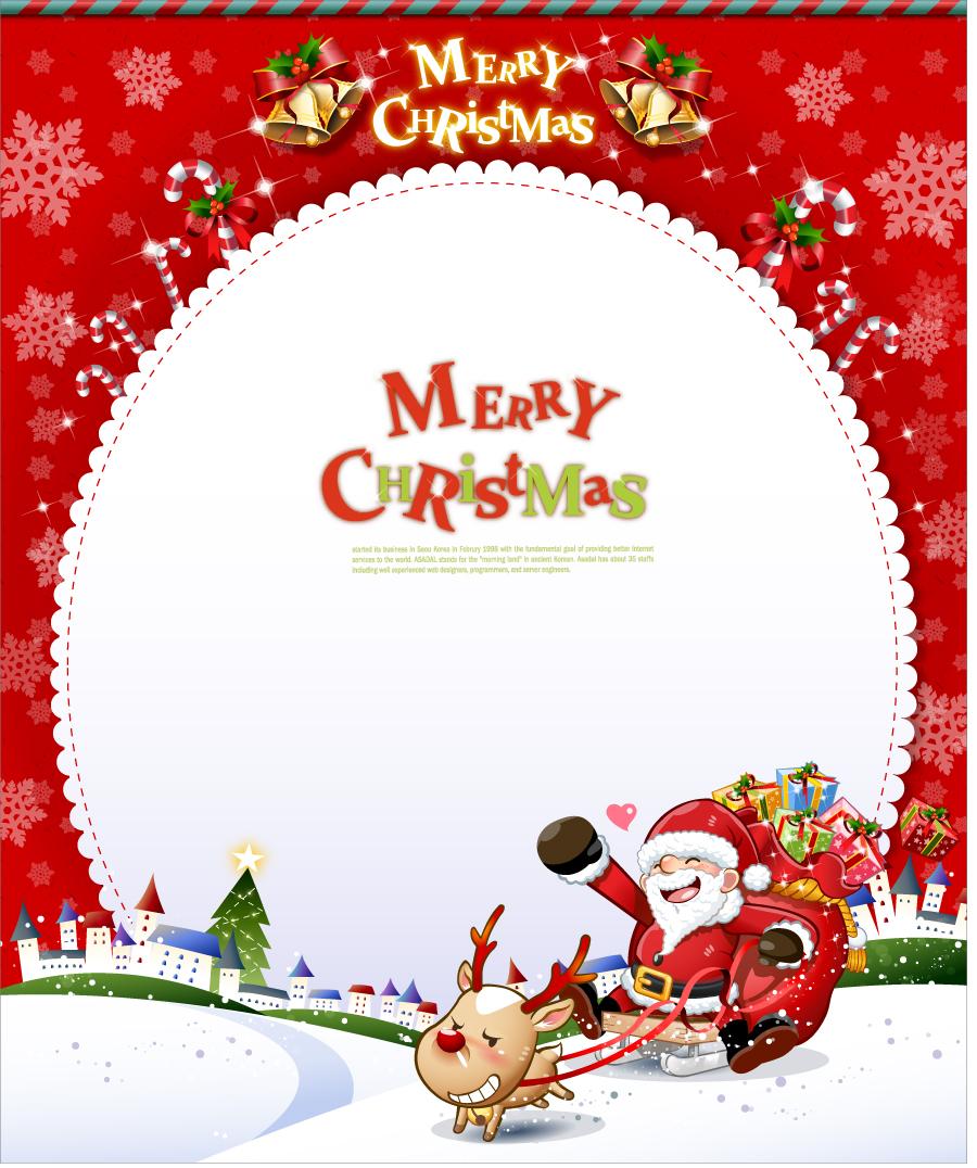 Santa Claus And Snowman Cute Snowman And Santa Claus