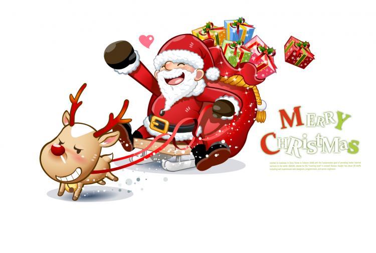 Claus Snowman Cute Snowman And Santa Claus