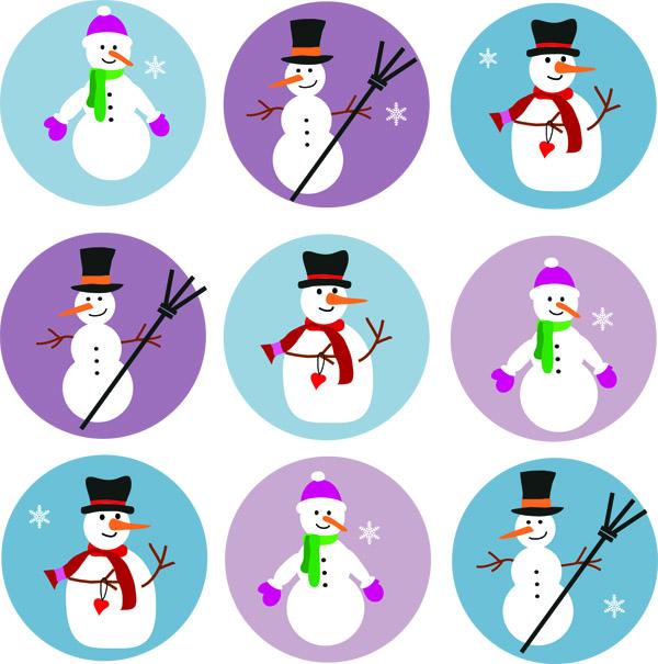 free vector Cute snowman vector 5601