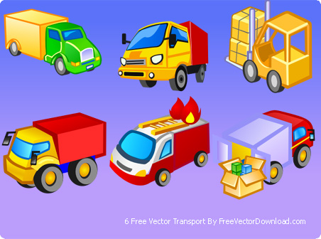 free vector Cute style icon vector transport