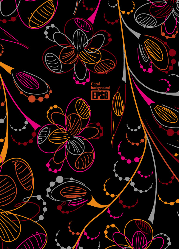 free vector Cute theme fashion pattern vector