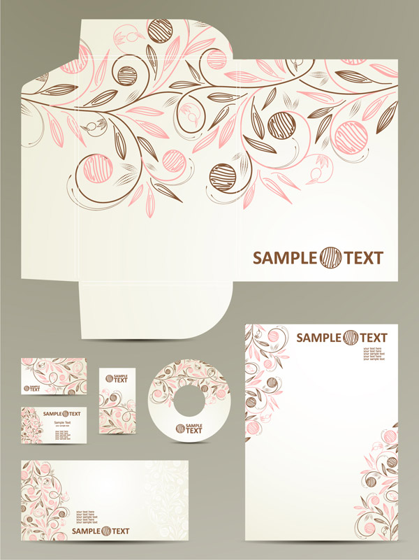 free vector Cute theme vi template vector pattern