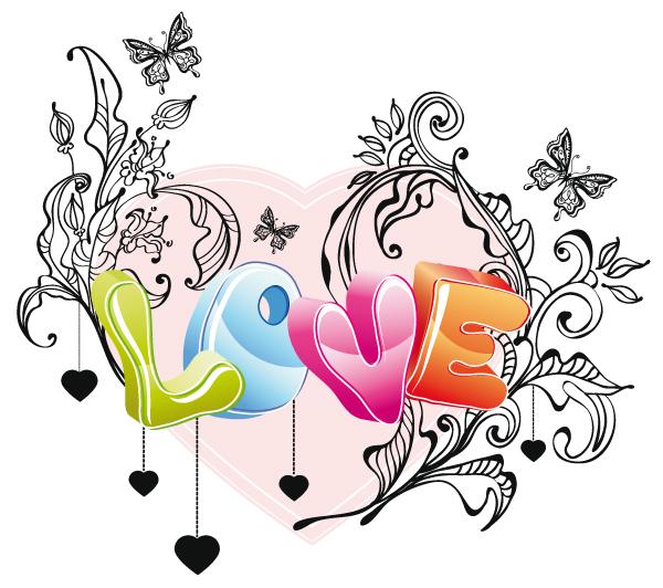 free vector Cute valentine 02 vector