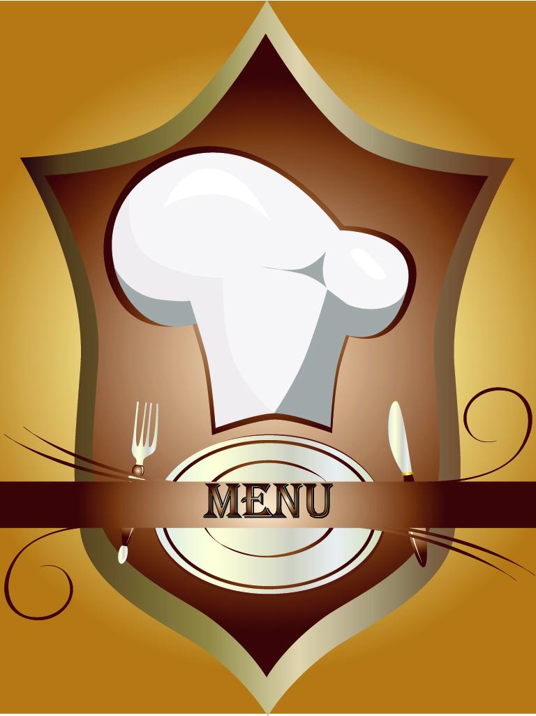 free vector Cutlery chef hat vector