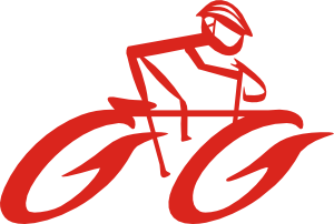 free vector Cyclist On Bike clip art