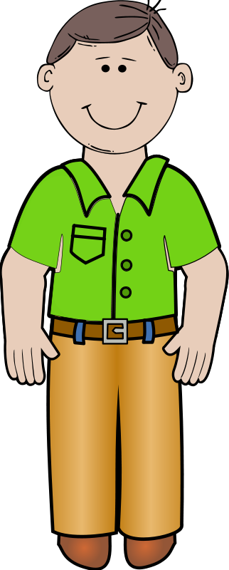 free vector Daddy standing 02
