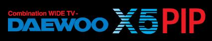 free vector Daewoo X5 WIDE TV logo