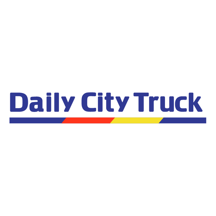free vector Daily city truck