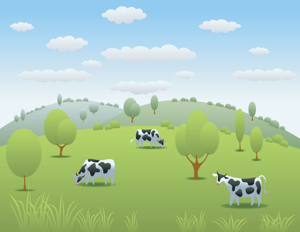 free vector Dairy in the hill