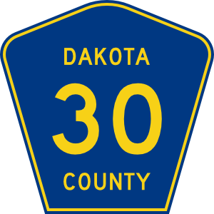 free vector Dakota County Route 30 clip art