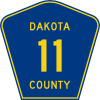 free vector Dakota County Route clip art