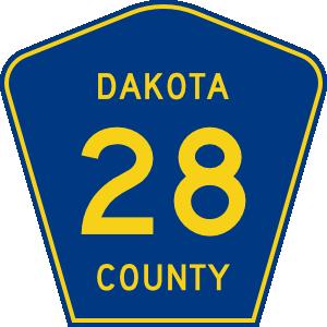 free vector Dakota County Route clip art