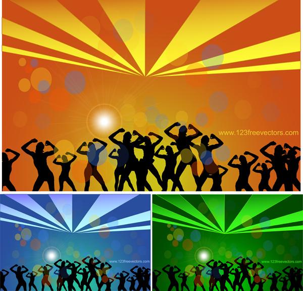 free vector Dance Party Vector