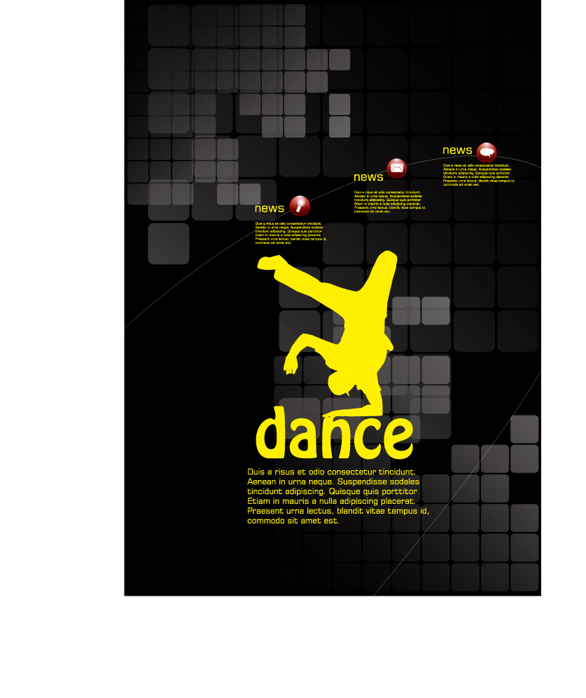 free vector Dance posters template vector