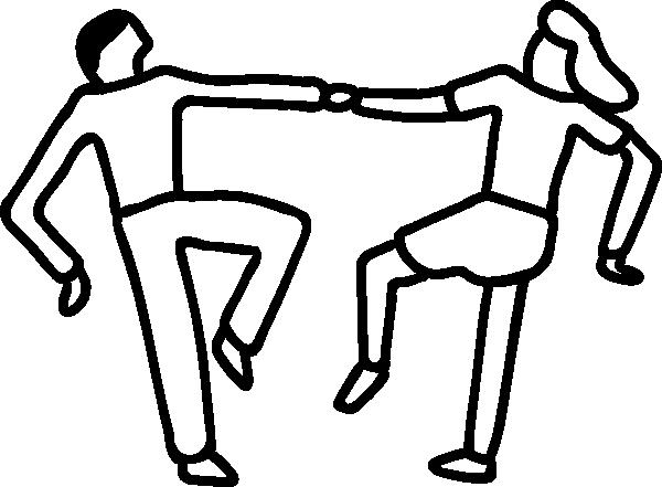 free vector Dancers clip art