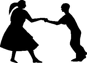 free vector Dancing Couple Fifties clip art