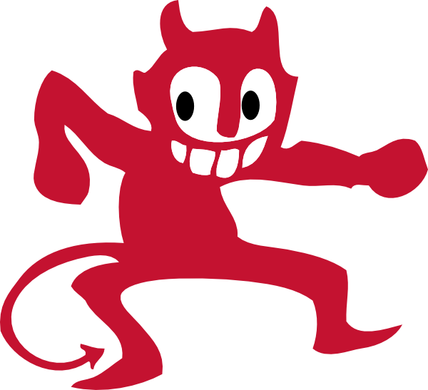 free vector Dancing Devil clip art