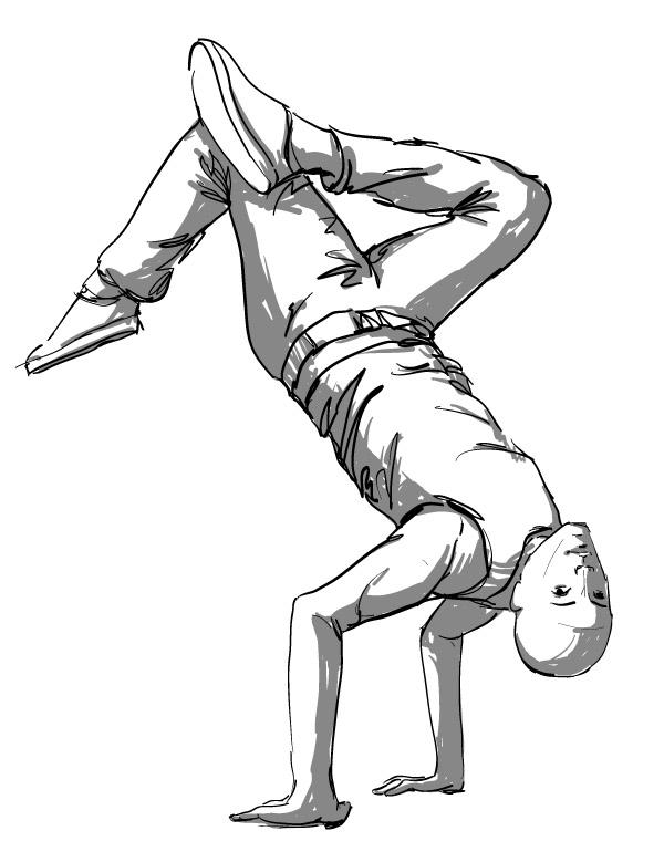 Hips Line Dance Characters Hip-hop Dance