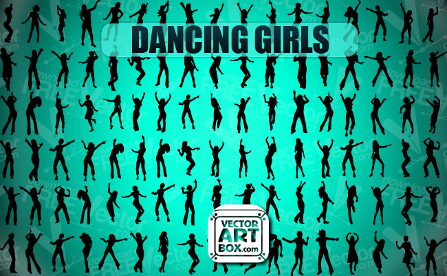 free vector Dancing Girls