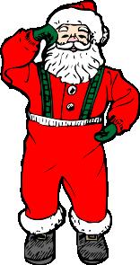 free vector Dancing Santa clip art