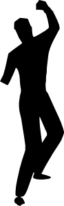 free vector Dancing Silhouette clip art
