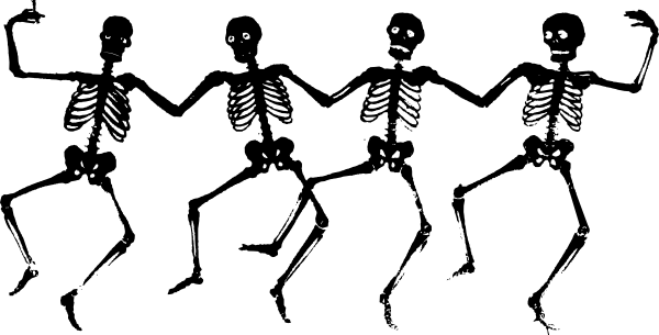 free vector Dancing Skeletons clip art