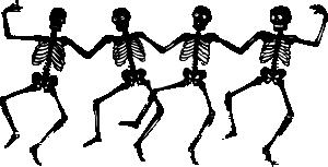 free vector Dancing Skeletons clip art