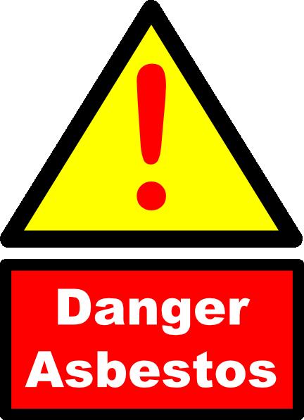 free vector Danger Asbestos Sign clip art